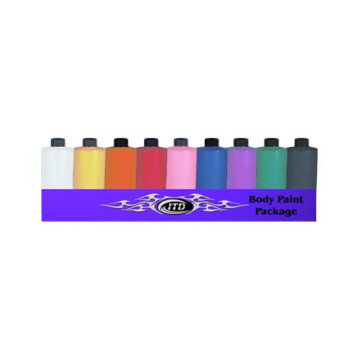 9 Color 4 oz Body Paint for Airbrush Tattoo