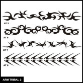 Armband Tribal Stencil Set 2 for Airbrush Tattoo