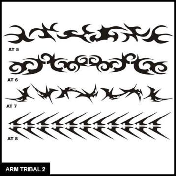Armband Tribal Stencil Set 2 for Airbrush Tattoo