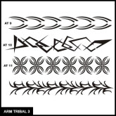 Armband Tribal Stencil Set 3 for Airbrush Tattoo