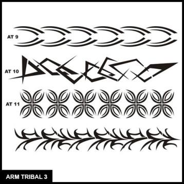 Armband Tribal Stencil Set 3 for Airbrush Tattoo