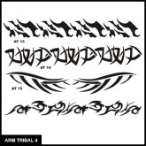 Armband Tribal Stencil Set 4 for Airbrush Tattoo
