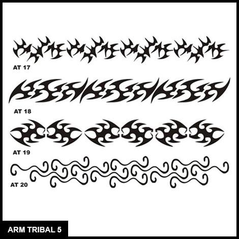 Armband Tribal Stencil Set 5 - Airbrush Tattoos - Island Tribal Designs