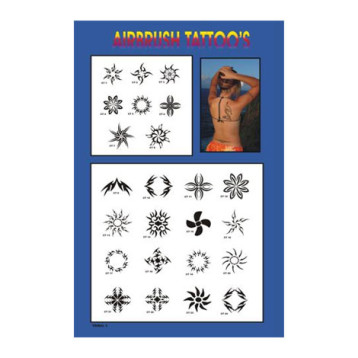 Armband Tribal Stencils with Poster Board for Airbrush Tattoo Business