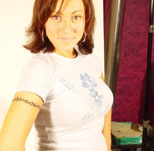 airbrush arm band tattoo Step 4