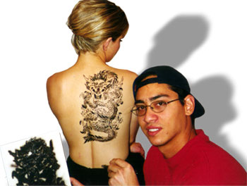 Asian Dragon Stencil 1