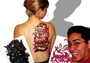 Asian Dragon Stencil 2