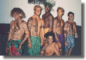 Boys with Tribal Airbrush Tattoo