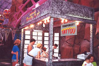 Circus Circus Airbrush Tattoo Booth