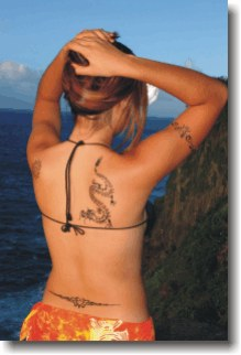 Girl with a Dragon Airbrush Tattoo