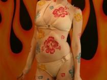 Hibiscus Theme Full Body Airbrush Tattoo